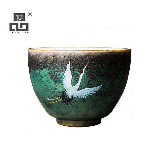 TANGPIN ceramic teacups handmade crane kung fu cup drinkware 100ml