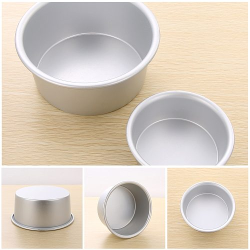 4/6/8/10inch Aluminum Alloy Cake Pan Tray Mould Fixed Bottom Bakeware Round Pattern Kitchen Pudding Mold Baking Tools
