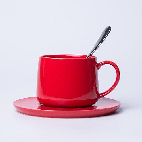 Coffee Mug Set Ceramic Dish Coffee Cup With Saucer 340ml