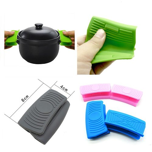 Hot Silicone Heat Insulation Oven Mitt Grill Glove Ear Pan Pot Holder Resistant Oven Grip Anti-hot Pot Clip Kitchen Accessories