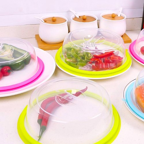 Microwave Oven Refrigerator Covers PP Transparent Food Fresh Keeping Heated Sealed Lid Oil Proof Anti-Spattering Cap Protector