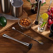 6PCS Stainless Steel Cocktail Shaker Set 6 Piece Martini Shaker, Drink Shaker, Bartender Kit With Measuring Jigger, Mixing Spoon