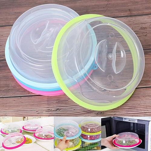 NEW Fridge Fresh-keeping Cover For Microwave Heating Oil Cover Plastic Lid Plate Cover Silicone Hot Dish Cover