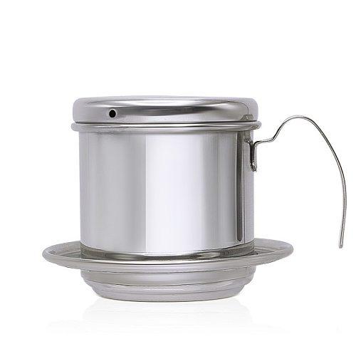 High-Temperature Vietnam Drip Pot Coffee Pot 304 Stainless Steel Coffee Utensils Machine Filter Pot Kitchen Accessories Tools