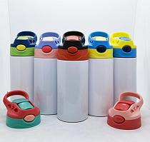 12oz Kids Sippy Cups Skinny Tumbler Sublimation DIY Children Water Bottle Stainless Steel Double Wall Vacuum Insulated Mugs
