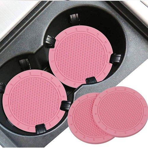 4Pcs Car Water Cup Bottle Holder Anti-Slip Pad Mat Soft PVC Car Coaster Non-Slip Coaster Car Styling Car Accessories