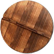 Anti-scalding Anti-overflow Solid Wood Pot Lid Environmental Protection Iron Pot Handmade Pot Cover Kitchen Cookware