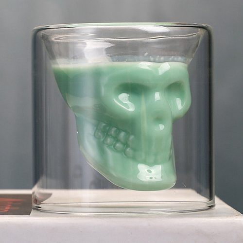 Creative Skull Cup Shot Glass Transparent Cup Crystal Skull Head Glass Cup for Whiskey Wine Vodka Bar Club Beer Wine 25ml