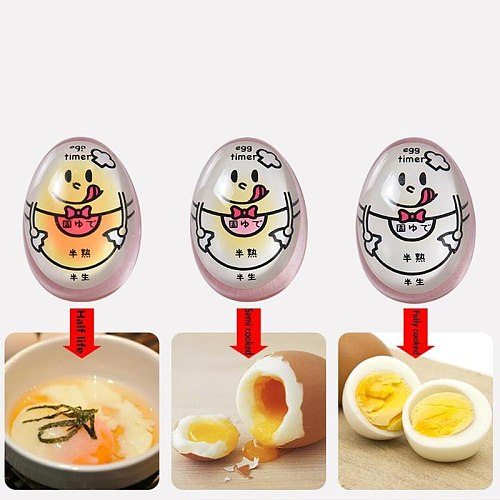 Creative Egg Timer Half/Semi/Fully Boiled Egg Timer Heat-resistant Resin Perfect Color-Changing Egg Timer Kitchen Tool