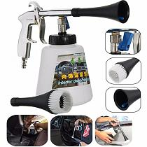High-Pressure Cleaning Gun Tornador Type Surface Interior Exterior Air Washing Tool Car Seat Sofa Glass Leather Cleaning Tool