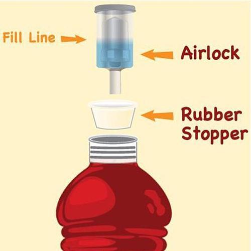 Standard Size Airlocks Three-Piece One-Way Air Lock Beer Making Brewing Barrel Exhaust Valve For Beer Wine Shine