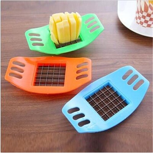 Stainless Steel Vegetable Potato Slicer Potato Cutting Fries Tool  Cutter Chopper Chips Making Tool Kitchen Accessories