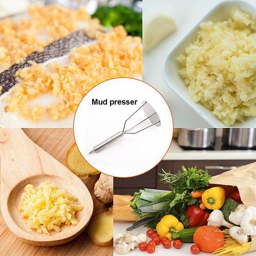 Potato Masher Ricer Puree Pressed Fruit Juice Maker Stainless Steel Potato Pusher Smooth Mashed Vegetable Crusher Fruit Tools