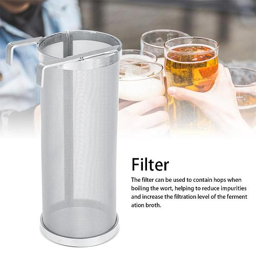 300 Micron Stainless Steel Hop Spider Mesh Beer Filter With Hook For Homemade Brew Home Coffee Dry Hopper Home Brew