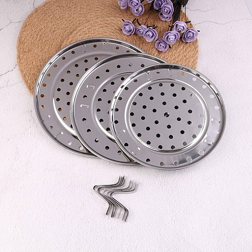 1 PC Multifunction Durable Steamer Rack Stainless Steel Pot Steaming Tray Stand Steamer Shelf Cookware Kitchen Accessories