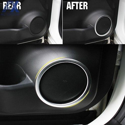 AX Chrome Speaker Cover Fit For Nissan Qashqai 2014 - 2016 2020 Interior Trim Side Door Stereo Bezel Collar Ring Garnish Molding