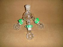 Lab Short-path Distillation Receiver with Three 50ML Flasks,24/29,lab Glassware