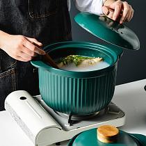 Ceramic Casserole Open Household Kitchen Soup Pot Flame Large Capacity High Temperature Resistant Health Soup Pot Claypot Rice