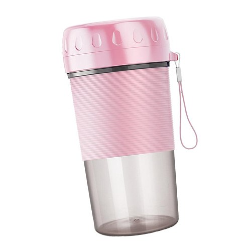 Portable Personal Blender lectric USB Small Smoothie Juicer Cup, Mini Household Fruit Mixing Machine with 300ml Glass Bottle