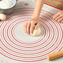 Large Size Silicone Kneading Pad Double Scale Non-stick Surface Dough Pad Kitchen Cook Pastry Bake Rolling Mat Sheet Cake Tool