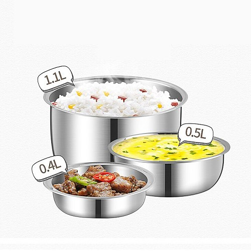 MINI Rice Cooker Thermal Heating Electric Lunch Box 2/3 Layers Portable Food Steamer Cooking Container Meal Lunchbox Warmer