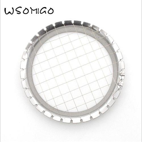 WSOMIGO 1pcs Kitchen Accessories Cutter Cut Egg Equipment Grid Vegetable Salad Egg Cuter Kitchen Gadget Kitchenware - C