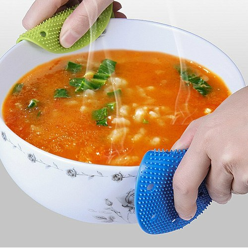 2PCS PVC Cleaning Brushes Soft Silicone Scouring Pad Washing Sponge Dish Bowl Pot Cleaner Washing Tool Kitchen Accessories