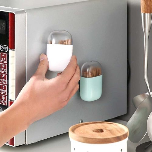 Magnetic Refrigerator Toothpick Holder Container Household Table Toothpick Storage Box Toothpick Dispenser With Magnet 1piece