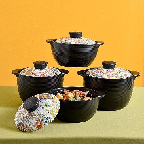 Cross border gift takeaway casserole soup domestic open fire stew pot ceramic pot western style Taji pot can be customized logo