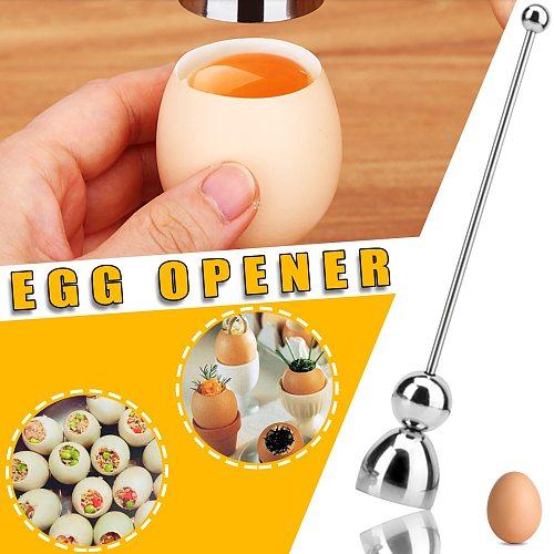 2021top hoem decor Egg Sheller Stainless Steel Topper Cutter Opener Kitchen Tools Gadgets товары для дома