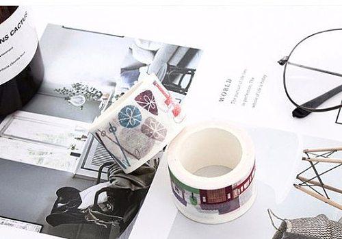 2cm  3cm 4 cm Cute flowers Washi Tape DIY decoration Scrapbooking Sticker Label Masking Tape School Office Supply
