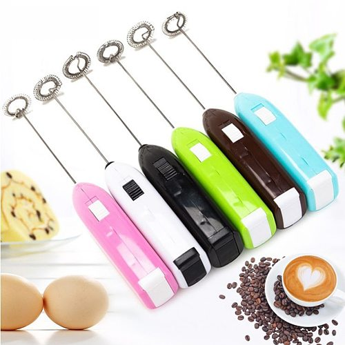 Egg Beaters Drinks Milk Frother Foamer Whisk Mixer Stirrer Egg Beater  Egg Beater Electric Mini Handle Tool kitchen accessoires