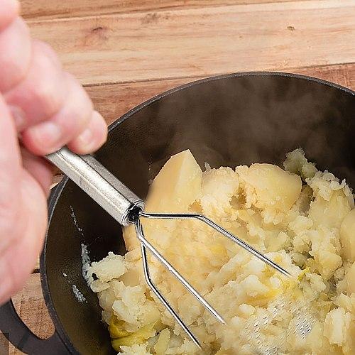 Potato Masher Stainless Steel Heat Resistant Ergonomic Non-slip Handle Cookware Perfect for Bean Versatile Kitchen Hand Tool