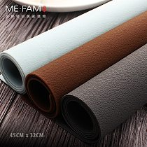 ME.FAM New Simple Leather Texture Silicone Placemat Anti-hot Dish Pad Waterproof Oilproof Home Dining Table Mesa Protection Mats