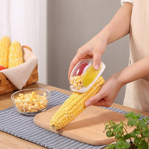 Portable Corn Kernels Peeler Corn Shaver Vegetable Corn Cutter Grain Stripper Cob Scraper Separator Kitchen Gadgets Accessories