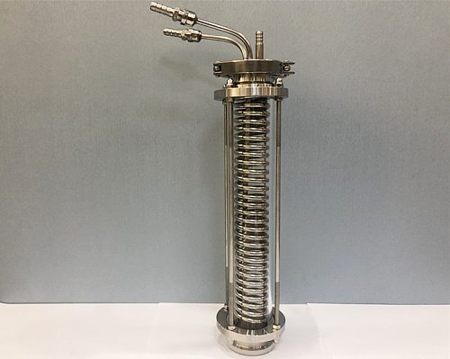 2 Tri-clamp Sanitary Dephlegmator/Distillation Condenser With 2  Sight Glass  , Pipe ID 6mm,Lenght 330mm,Reflux,Dimroth,SS304