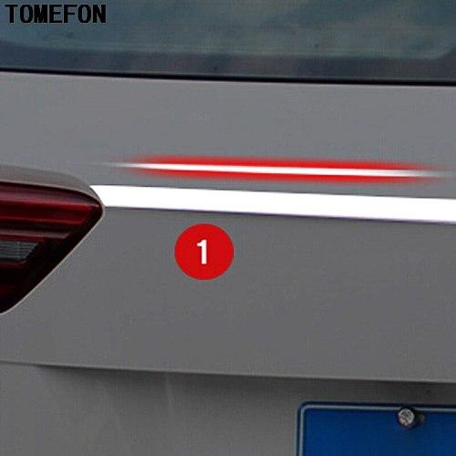 For Volkswagen VW Tiguan Second Generation 2017 2018 Rear Trunk Upper Cover Tailgate Trim Hatch Back Door Handle Molding Garnish