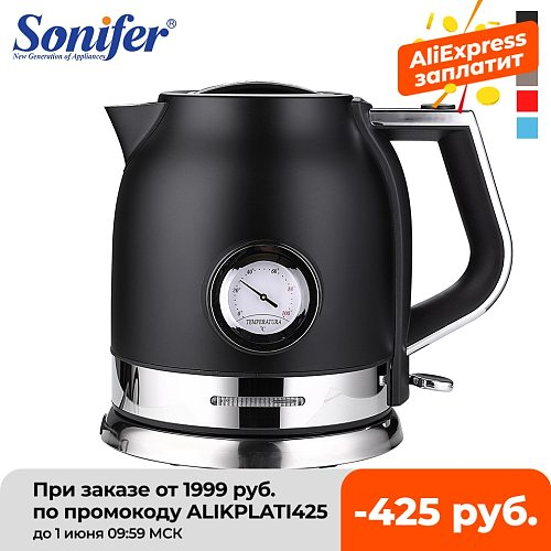 Electric Kettle Stainless Steel Kitchen 1.8L Smart Whistle Kettle Samovar Tea pot With Water Temperature Control Meter Sonifer