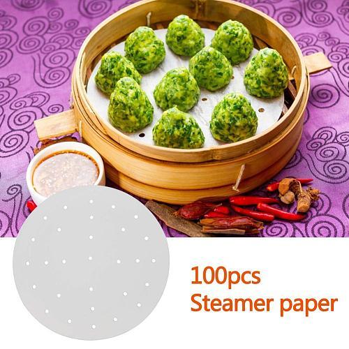 inch NonStick Steamer Paper White Dim Sum Paper Restaurant Kitchen Under Steamers Mat Kitchen Cooking Tools best service