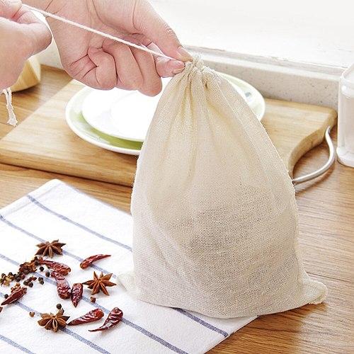 3PCS Reusable Food Filter Mesh Bag Nut Milk Bean Muslin Fish Soup Cook Boiling