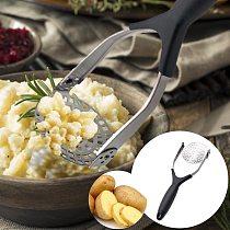 Potato Musher Kitchen Manual Stainless Steel Multi-function Mud Masher Folding Activity Potato Pressure Fruit Vegetable Tools
