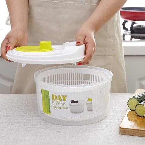 Large Manual Salad Vegetable Fruits Drain Washer Spinner Lettuce Dryer Dehydrator Colander Basket Kitchen Salad Tools Gadgets