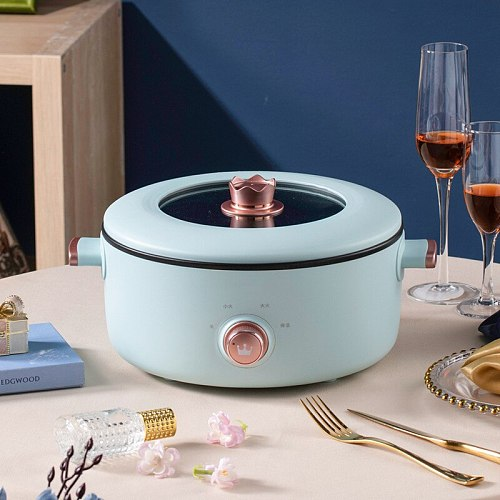 Multifunctional electric cooker Home health universal pan Student dormitory 3L wok MINI hot pot gift