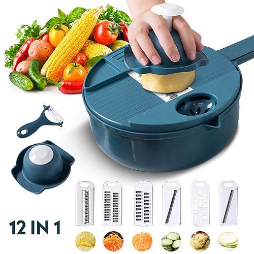 Kitchen Accessories Vegetable Cutter Potato Peeler Carrot Slicer Onion Chopper Cocina Gadgets Tools Gadżety Garlic Crusher