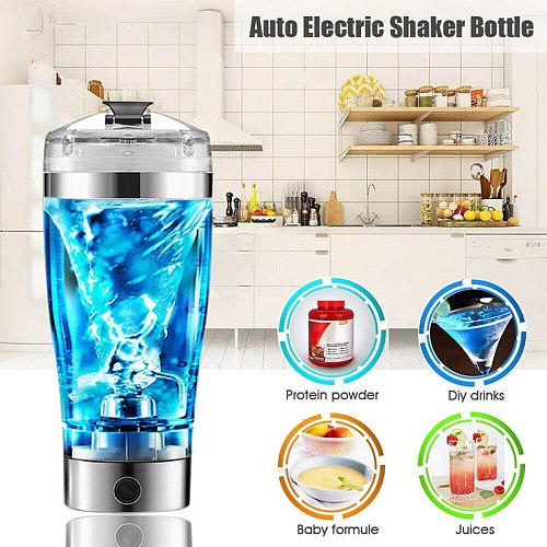 600ML Electric Smart Portable Mixer Protein Shaker Detachable Mixer Cup Bottle Automatic Mixer Cup Mixing Juices Baby Formula