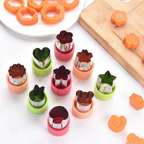 Hot Sale 3PCS/Set Star Heart Shape Vegetables Cutter Portable Cook Tools Stainless Steel Fruit Cutting Die Kitchen Gadgets