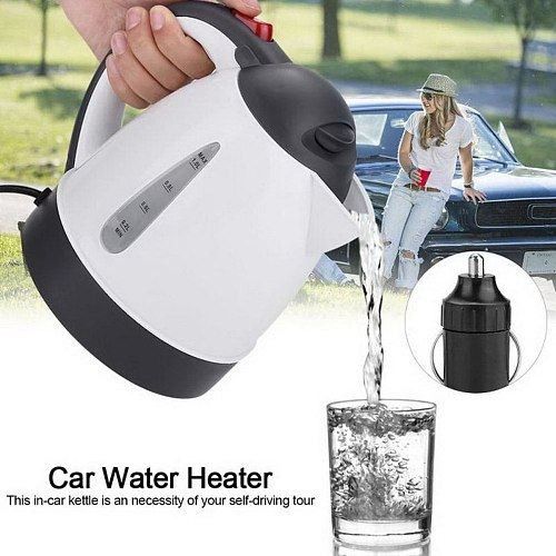 1000ml 12V-24V Electric Kettle Insulation Anti-Scald Teakettle Car Travel Coffee Pot Tea Heater Boiling Water Kitchen Tool