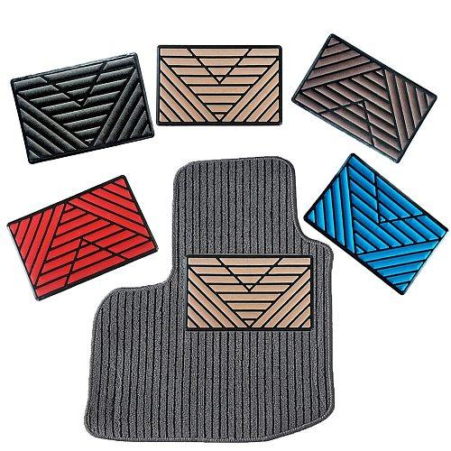 1PC Universal Black PVC Car Floor Carpet Pad Heel Foot Mat Pedal Patch Cover 25x15cm Car Foot Pad Car Mat
