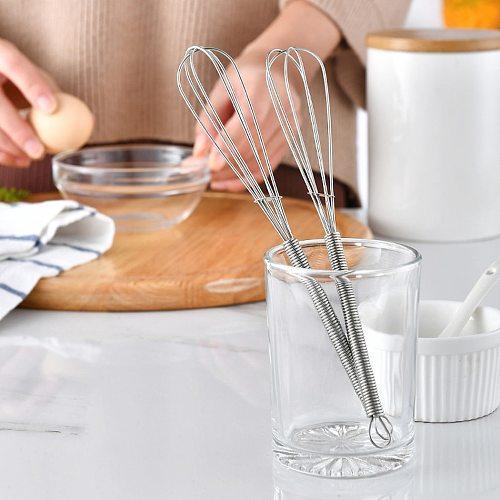 1PC Stainless Steel Egg Whisk Hand Push Egg Beater Milk Cream Foamer Blender Flour Stirrer Baking Stirring Kitchen Accessories