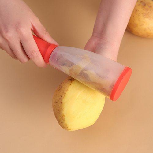Peeler with Rubbish Bin Stainless Steel Multi-function Vegetable Peeler Cutter Peeler Potato Carrot Grater Kitchen Tool Gadgets